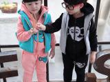 2015春季新款儿童卫衣套装休闲儿童套装男女童加绒卫衣三件套特价