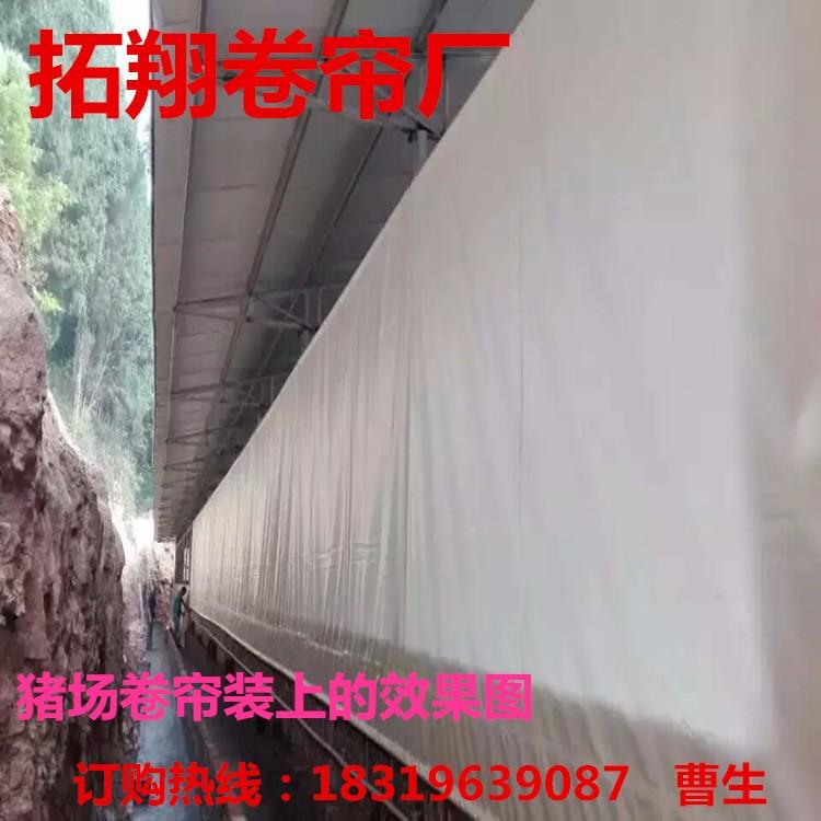 陕西榆林拓翔篷布厂供应养猪场防晒防水卷帘布