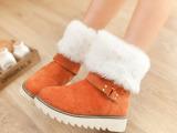 2014冬季新款女士雪地靴短毛绒翻边短筒低筒毛毛雪地靴批发供应