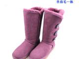 厂家批发雪地靴1873羊皮毛一体雪地靴高筒靴长靴冬保暖女靴代发货