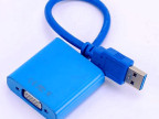 厂家生产 USB3.0转VGA线 USB TO VGA 转接器 USB TO V