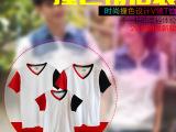 2015年新款夏季厂家直销创意个性时尚休闲撞色设计V领情侣装