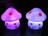 蘑菇小人灯 七彩蘑菇小夜灯 LED创意礼品 哈哈蘑菇