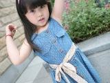 2013女童裙装新款儿童韩版牛仔点点裙 已清货