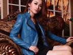 2014新款女装pu长袖立领欧美外贸皮夹克机车修身女式皮衣大码外套