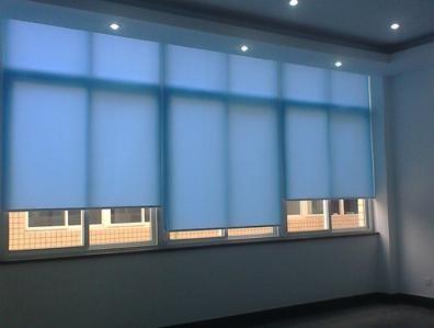 嘉定新城定做窗帘店上海嘉定区公司办公室窗帘卷帘铝百叶定做