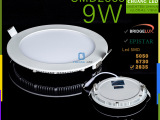 压铸led面板灯圆形 9W 专业生产专业代工专业提供面板灯服务