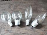 义乌宪繁灯饰配件批发普通照明白炽灯泡透明球泡E14-E27尖泡圆