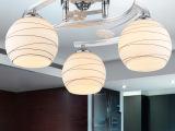南波湾现代简约铝吸顶灯具客厅卧室餐厅儿童LED玻璃吊灯饰
