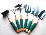厂家直销海绵柄园林工具6件套 铲子 叉子 锄头 爪子 花园工具