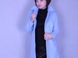 秋冬新款 韩版高档女装 毛呢时尚加绒加厚外套 厂家直销