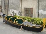 9米长纯手工木质豪华观光电动手划贡多拉游