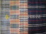 厂家直销顺毛米色混搭格子呢 0211粗纺毛呢 秋冬女装面料