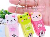 迷你带钥匙扣可爱卡通动物造型婴儿指甲钳/指甲剪/修甲剪刀