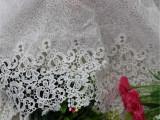 行业领先火拼家纺8351服饰白色水溶花边花边布匹牛奶丝水溶乱网