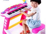 新品 贝恩施儿童电子琴带麦克风 宝宝多功能小钢琴早教音乐玩具