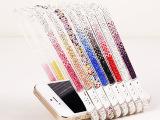 苹果手机壳iphone5s水钻边框 5代镶钻糖果渐变色钻石边框保