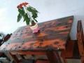 老船木茶桌椅组合仿古功夫泡茶台中式简约茶几实木餐桌