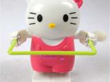 发条上链小动物玩具跳绳KT猫 幼儿园礼物厂家地摊热卖 玩具批发