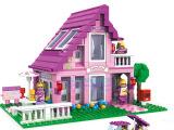 乐高式小颗粒塑胶拼装积木 公主女孩积木玩具 益智玩具 早教玩具