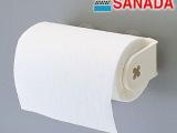 日本进口SANADA强力吸盘厨房纸巾架 卫生间纸巾挂浴室吸壁卷纸架