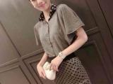 2014最新时尚 波点翻领上衣+波点裙针织套装 微信代理 一件代