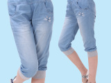 呱呱蛋女大童装韩版牛仔中裤2015夏装新款大童女装牛仔七分裤女童