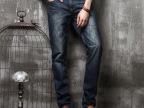 14秋冬新款重手工水洗韩版修身小直筒牛仔裤 高品质长裤