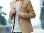 韩版男装新款两粒扣休闲小西装 潮流 修身修身小西服 男 一件代发