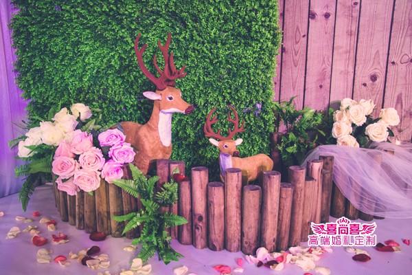 息县婚庆公司报价:喜尚喜婚礼定制森系鲜花主题婚礼 嫁给爱情