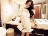 2014爆版春装新款连衣裙韩版淑女风插肩蕾丝袖大码连衣裙
