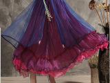 2015夏装新款高档半身裙民族风两穿长裙三层抹胸裙子超大摆8米宽
