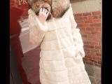海宁皮草 新款超大貉子毛领兔毛女外套 獭兔中长女皮草 皮草批发