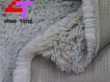 厂家直销PV绒地毯布沙发玩具拖鞋毛绒面料