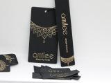 现货韩国制造高档领标 订做棉带印麦 织唛布标吊牌吊粒女装