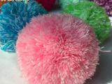 涤纶腈纶毛线球 阻燃高弹毛球 彩色手工毛