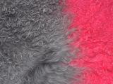 宁夏滩羊毛褥子皮毛一体绵羊皮黑色白色现货