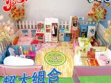 淘宝热销H23A正品乐吉儿温馨家居屋芭比娃娃套装礼盒公主女孩玩具
