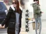 迈克缇卡2014白鹅绒羽绒服服军工装升级版可脱卸 女中长款韩版