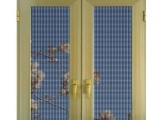 佛山诺盾门窗96款铝合金双扇平开纱窗金刚网防盗纱窗