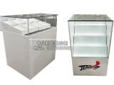 小型彩票柜弧形玻璃展柜弯玻柜台彩票柜服务吧台业务桌子