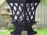 创意 太阳能柱头灯 围墙灯 户外灯具 平顶led庭院灯 欧式花园