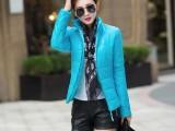 实拍秋冬新款韩版修身女式立领轻薄款大码羽绒棉服外套