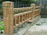 包运输安装的仿木护栏花架
