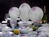 厂家直销员工福利礼品套装46头餐具套装陶瓷碗盘套具XDY14-0