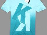 男士渐变色打底衫 时尚印字短袖t恤 男装短袖t恤 男t厂家订做