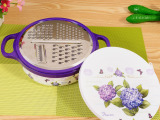厂家直销青花韵圆形多功能切菜器厨宝刨磨器 厨房小工具批发
