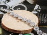 纯银手链批发 锆石满钻手链 合金几何形首饰 银饰淘宝货源 定制