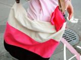 春夏季热卖韩版学生包单肩斜挎包帆布休闲女包大容量百搭条纹潮包
