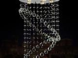 中山灯饰批发简约现代创意餐厅饭厅水晶吊灯卧室房间LED吸顶灯具